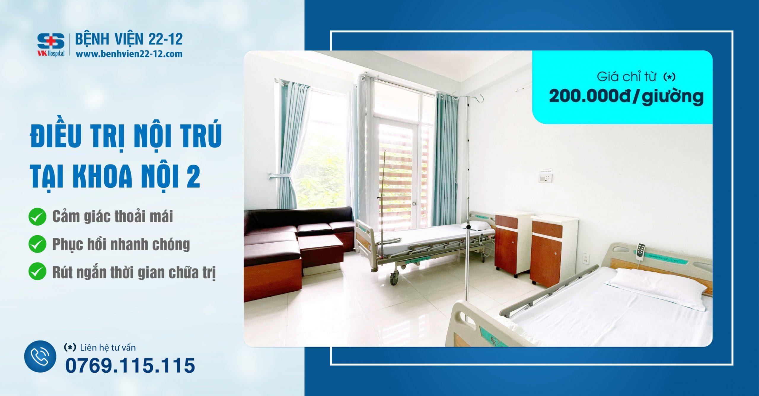 Bệnh viện 22-12   Điều trị nội trú tại Khoa nội 2