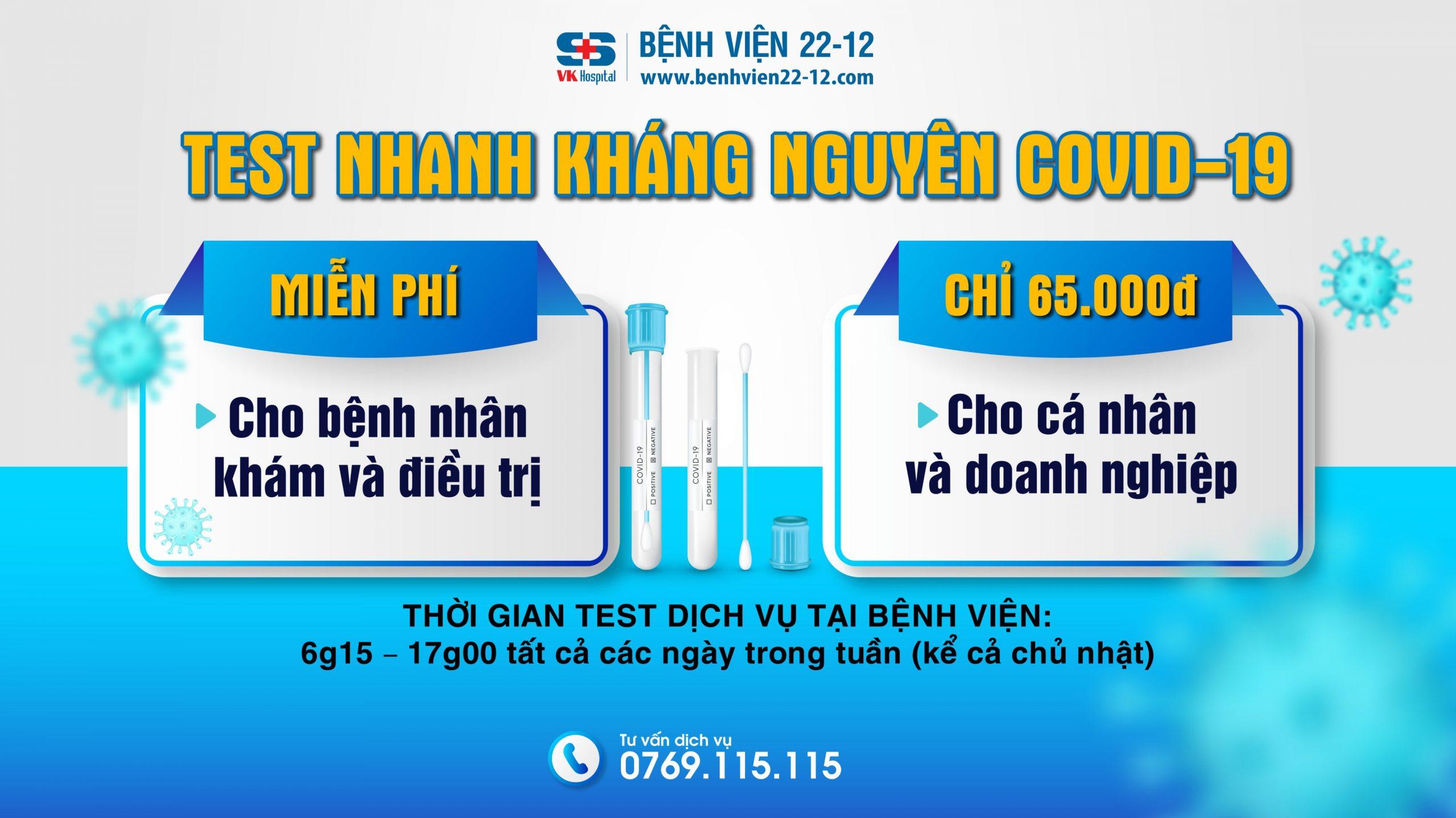 Bệnh viện 22-12   Dịch vụ test covid tốt nhất Nha Trang