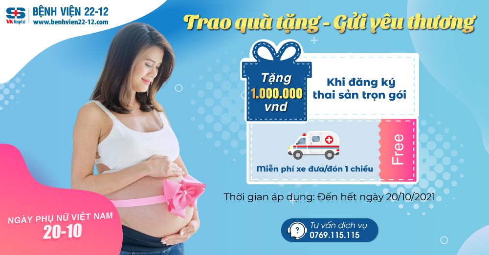 Ưu đãi thai sản trọn gói   Bệnh viện 22-12